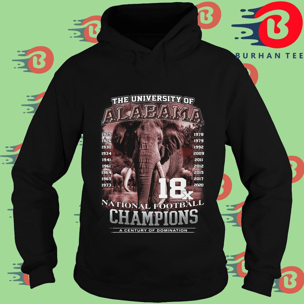 The university of Alabama Crimson Tide national football Champions a century of domination s Hoodie