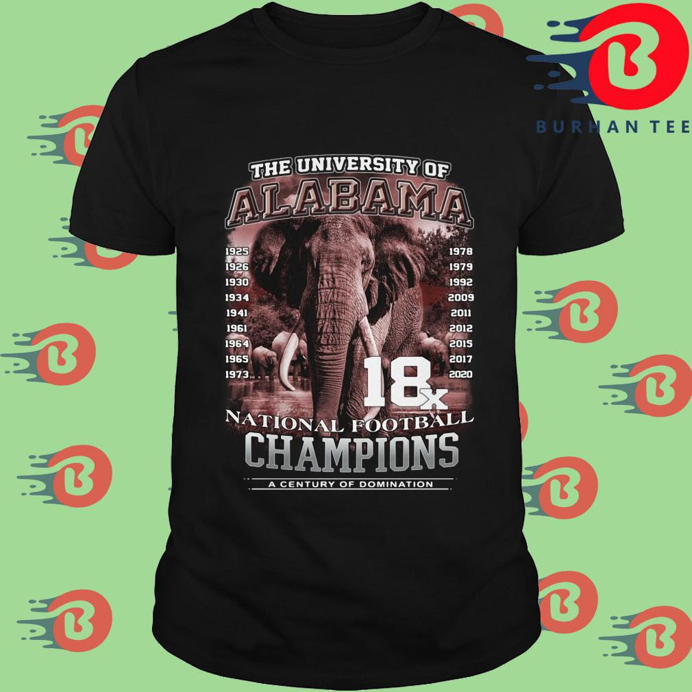 The university of Alabama Crimson Tide national football Champions a century of domination shirt