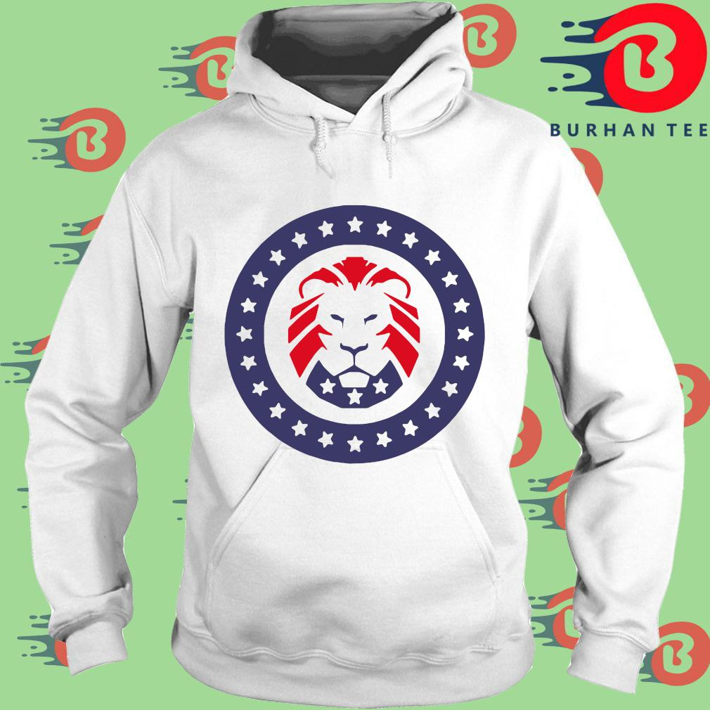 Trump 2020 MAGA Lion Flag American T-Shirt trang Hoodie