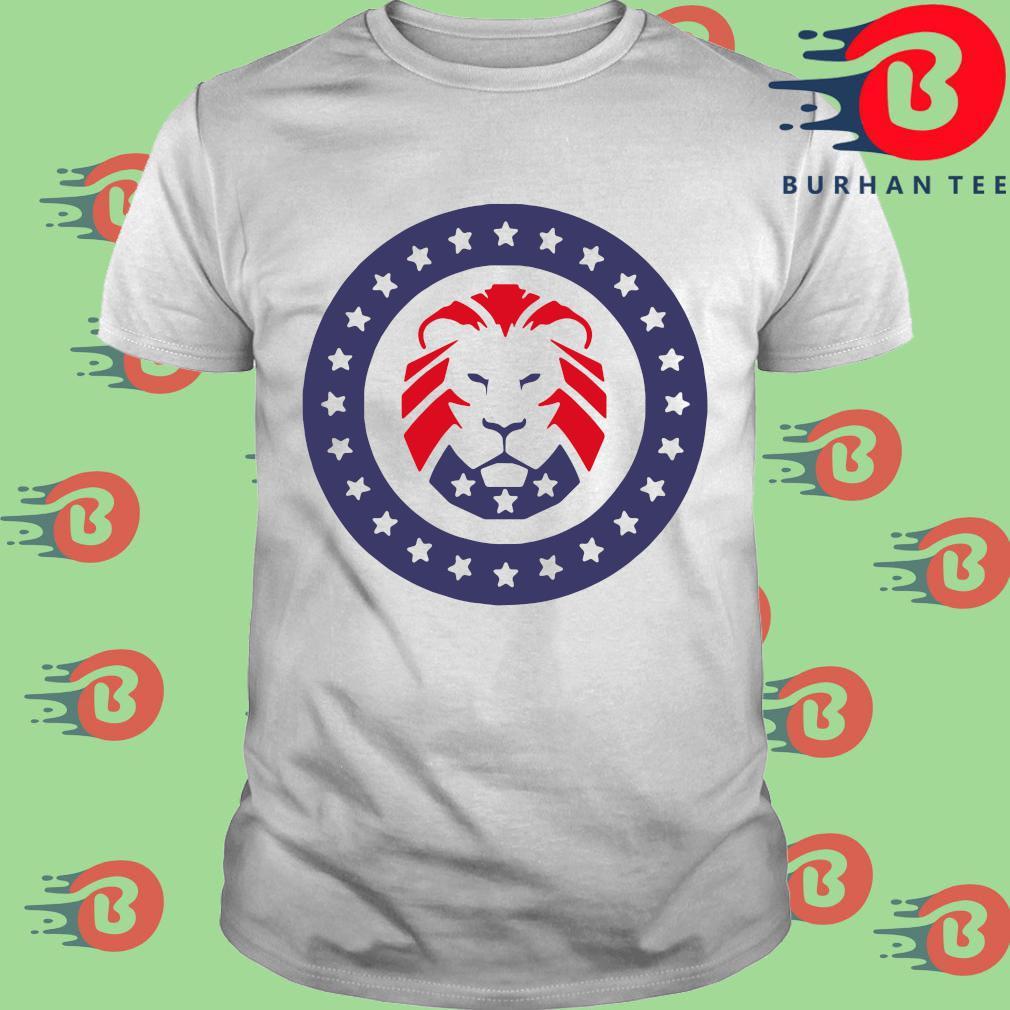 Trump 2020 MAGA Lion Flag American T-Shirt