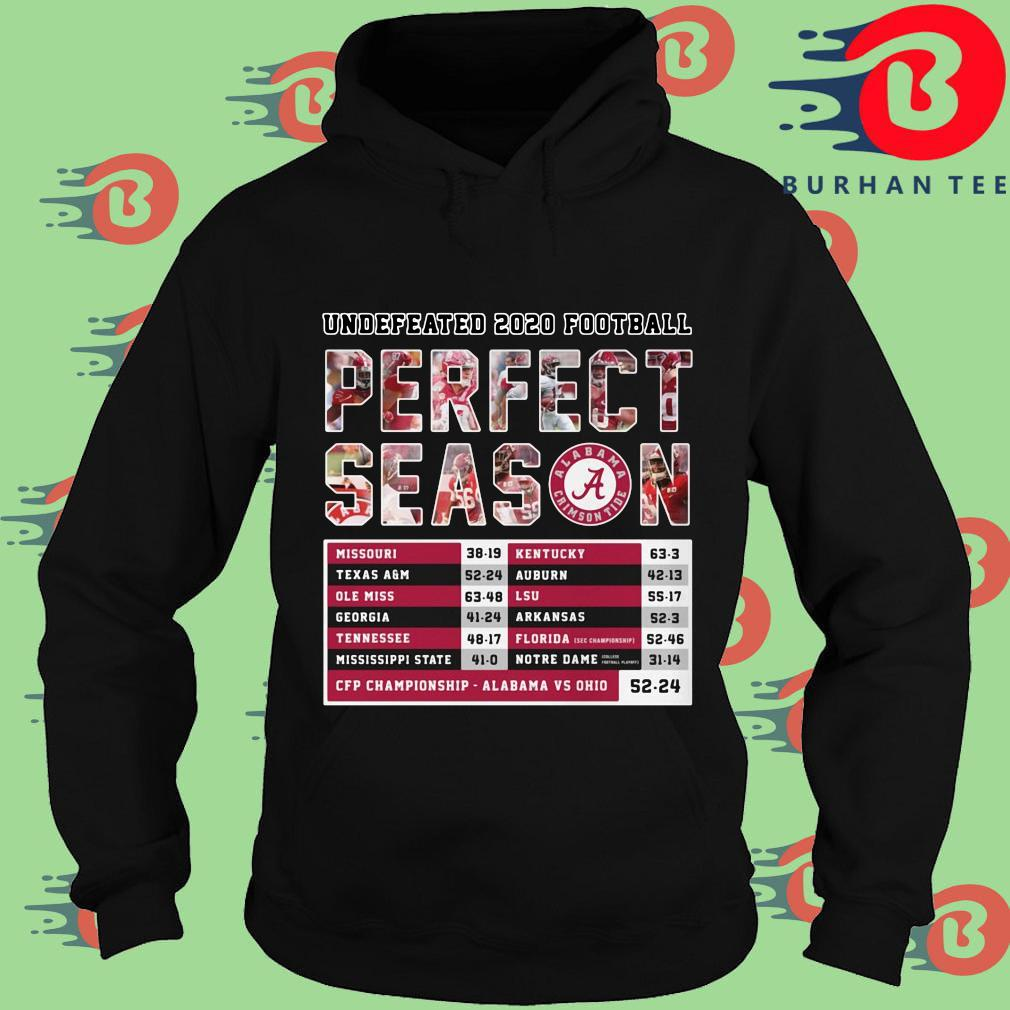 Undefeated 2020 football perfect season CFP Championship Alabama vs Ohio s Hoodie